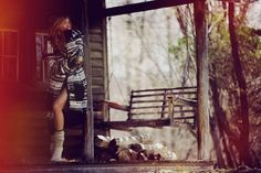 Cozy sweater. Thick socks. Cabin in the woods. Add a cup of coffee and I'd stay there forever.