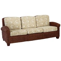 Cinnamon Three Seat Sofa via The Beach Look. Click on the image to see more!