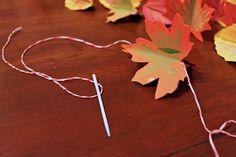 on my honor...leaf garland