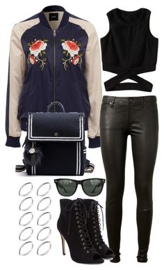 """"""""""" by biancamarie17 on Polyvore featuring AG Adriano Goldschmied, Ray-Ban and ASOS"""