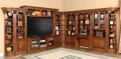 Parker House - Wellington L-Shape Entertainment Wall Unit -