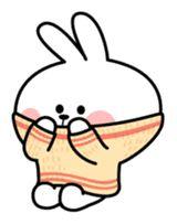 Cute Bunny Cartoon, Cute Love Cartoons, Cute Wallpaper Backgrounds, Cute Wallpapers, Cute Memes, Cute Doodles, Line Sticker, Stick Figures, Aesthetic Stickers