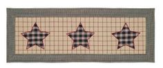 Bingham Star Non-Quilted Table Runner 13 x 36 from VHC Brands (Victorian Heart). This runner is cotton and measures 13 x The front features three 5 poi Plaid Fabric, Red And Black Plaid, Pattern Blocks, Table Linens, Table Runners, Primitive, Applique, Victorian, Quilts