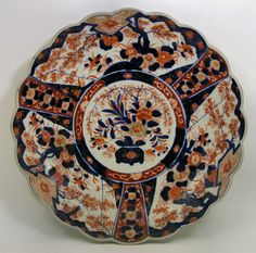 Imari plate.  Makes a beautiful compliment to Flow Blue collections...
