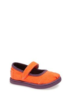 TOMS 'Tiny - Neon' Mary Jane Flat (Baby, Walker  Toddler) available at #Nordstrom- flower girl shoes?
