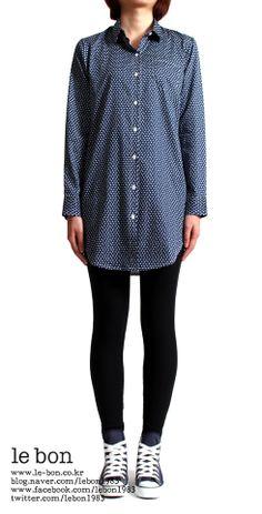 le bon klein shirt(올챙이도트) : long&boxy http://www.le-bon.co.kr