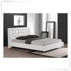 Baxton Studio Zeller Upholstered Platform Bed