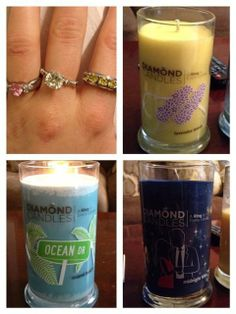diamond candles--a ring in every candle!