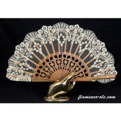 ABANICOS PINTADOS A MANO REF. 1110 . Abanicos españoles, mantones de Manila, mantillas. Flamenco-ole.com
