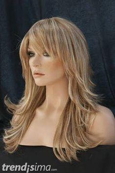 Fotos de cortes de pelo escalonado largo