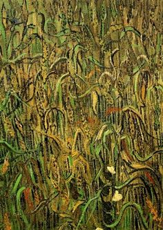 Ears of Wheat, 1890 by Vincent van Gogh. Post-Impressionism. landscape
