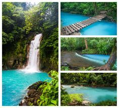 Rio Celeste, the sky blue river in Costa Rica. Click through to read our detailed guide to visiting: http://mytanfeet.com/activities/tips-visiting-rio-celeste/