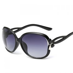 1be9b78142f Tiny Bow Embellished Hollow Out Leg Affordable Polarized Sunglasses - BLACK
