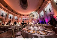 This venue understands the power of uplighting! Hotel Colonnade Coral Gables Miami Weddings.