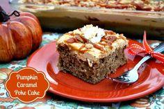 Mommy's Kitchen - Country Cooking & Family Friendly Recipes: Easy Pumpkin Caramel Poke Cake @marzettikitchen