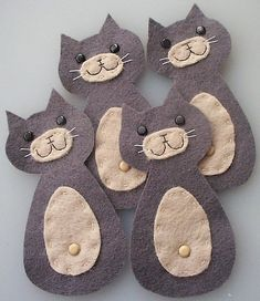 cute cat felt embellishments