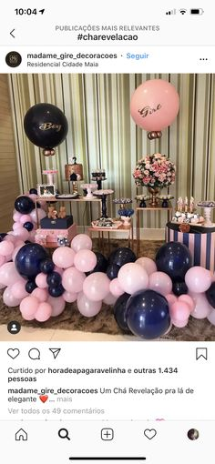 Gender Reveal Party Games, Gender Reveal Themes, Gender Reveal Party Decorations, Reveal Parties, Birthday Decorations, Pregnancy Gender Reveal, Baby Shower Gender Reveal, Baby Shower Themes, Baby Party