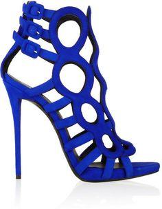 GIUSEPPE ZANOTTI Coline Cutout Suede Sandals - Lyst $1,395 Net-a-porter