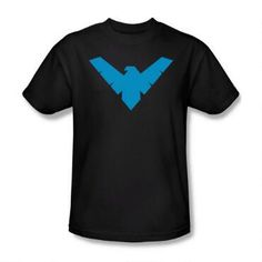 This shirt features the Nightwing symbol.