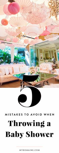 A event planner's tips for planning a chic baby shower