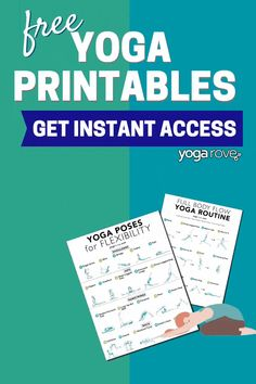 Here are amazing yoga printables that have beginner friendly yoga routines that help you increase flexibilty, strength, and reduce stress. I love these yoga print outs so much! Learn Yoga, How To Do Yoga, Yoga Flow, Yoga Meditation, Yoga Routine For Beginners, Improve Flexibility, Yoga At Home, Free Yoga, Yoga Tips