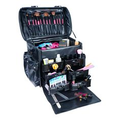 Makeup Artist Soft Rolling Trolley Cosmetic Case with Free Set of Mesh Bag Urban Decay Eyeshadow, Mac Eyeshadow, Will Turner, Professional Makeup Tips, Artist Bag, Eyeliner For Beginners, Trolley, Brush Sets, Makeup Storage