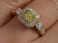 Hey, I found this really awesome Etsy listing at https://www.etsy.com/listing/241023213/art-deco-inspired-yellow-diamond-ring
