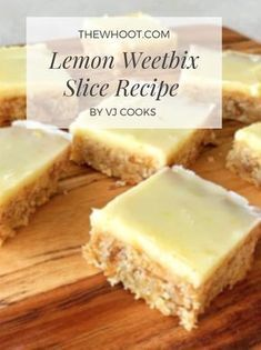 Weetabix Recipes Lemon Weetbix Slice Recipe Is Delicious - Weetabix Recipes Lemon Weetbix Slice Recipe Is Scrumptious This recipe yields 24 slices and based mostly on Vanya, it's 10 minutes prep and Lemon Recipes, Healthy Dessert Recipes, Sweet Recipes, Baking Recipes, Cake Recipes, Easy Desserts, Drink Recipes, Weetabix Recipes, Chocolate Weetbix Slice