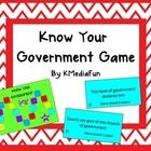 Know Your Government Game by KMediaFun Government Lessons, Teaching Government, 3 Branches Of Government, Levels Of Government, Social Studies Activities, Activity Games, Lesson Plans, Knowing You, Knowledge