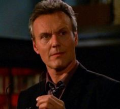 """""""I am not alone in the belief that the appearance of school librarian Rupert Giles on television's Buffy the Vampire Slayer has done more for the image of the profession than anything in the past fifty years, with the possible exception of Katherine Hepburn in Desk Set. Giles, this wily and attractive professional, is our hero librarian: a pop culture idol whose love of books and devotion to research hold the key to saving the universe - every week."""" http://www.well.com/~ladyhawk/Giles.html"""
