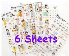 Heeda watercolor girl sticker Dialy life diary by StickersKingdom