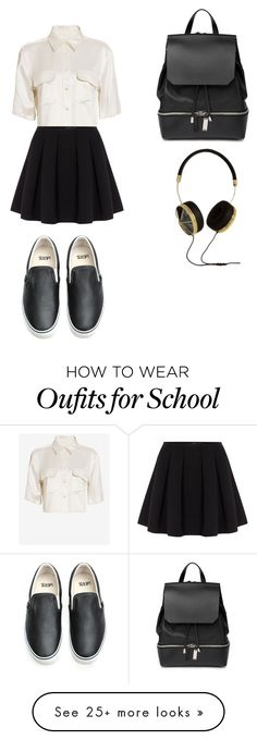 """""""School outfit"""" by ilona-meskhi on Polyvore featuring Equipment, Polo Ralph Lauren, Vans, COSTUME NATIONAL and Frends"""