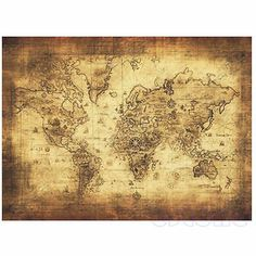 Wish | Retro Harry Potter Magic Old World Map Brown Paper Wizarding ...