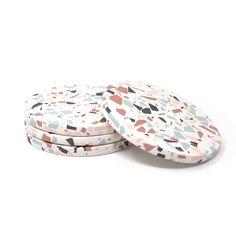 Jesmonite Terrazzo Coasters | Etsy Terrazzo, Diy Clay Earrings, Polymer Clay Jewelry, Cement Crafts, Clay Crafts, Deco Originale, Diy Coasters, Clay Design, Diy Décoration