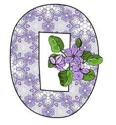 ArtbyJean - Paper Crafts: PURPLE LACE WITH PURPLE BLOSSOMS on a SET OF ALPHABETS A to Z Clipart to cut and past on your paper crafts - For digital arts, collage, crafts, decoupage, cards and scrapbooks.