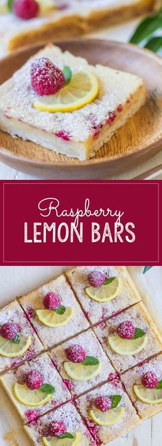 Fresh raspberries whisked into a sweet and tart lemon filling - all on top of a thick, buttery shortbread crust!