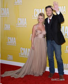 Miranda Lambert & Blake Shelton on the CMA Red Carpet