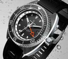 Aquadive Bathysphere 100 GMT White/Orange