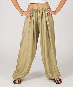 Look what I found on #zulily! Mocha Flowy Harem Pants #zulilyfinds