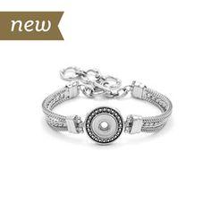 "Mini Eternity Bracelet Length 7-8.5"" Holds 12mm Mini Snaps M0326--$31.99"