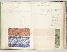 Textile Sample Book Date: 1860s (?) Culture: French (Lyons) Met Museum