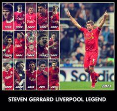 Stevie G. 16 years of loyalty Steven Gerrard Liverpool, Liverpool Captain, Liverpool Legends, Liverpool Football Club, Liverpool Fc, Football Memes, Football Soccer, College Football, Football Shirts