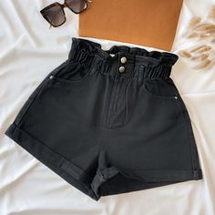 All That Denim Shorts - LARGE