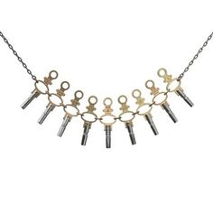 Pocket Watch Key Link Necklace, $62, now featured on Fab.