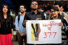 Wijziging LGBT-activisten en leden van de Gemeenschap etappe een demonstratie als het Hooggerechtshof van India bedoeld een curatieve petitie sectie 377 van het Wetboek van Indische uitdaging om een vijf-rechter Grondwet bankje voor hoorzitting in Kolkata op 2 februari. De LGBT-gemeenschap heeft uitgesproken hoop dat het Hof zou beschermen en legaliseren van haar seksuele rechten.
