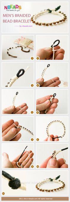 men's braided bead bracelet