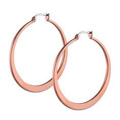 Signature Rose Gold Hoop Earrings
