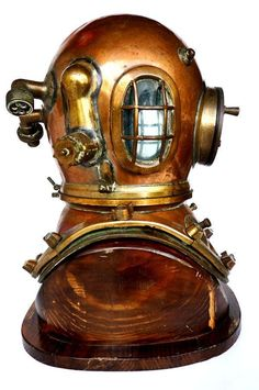 1840, August Siebe deep sea diving helmet