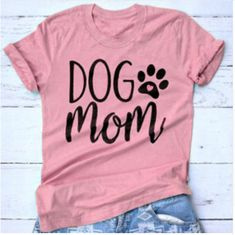 Dog Mom T-shirt Tees Tops Short Sleeve Lady Hipster Tshirt Casual Female Fashion Top Casual, Dog Mom Shirt, Vinyl Shirts, Custom Shirts, Husky, Look, Shirt Designs, T Shirts For Women, Mom T Shirts