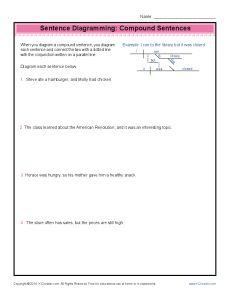 Sentence diagramming adjectives sentences worksheets and grammar sentence diagramming worksheets compound sentences ccuart Gallery
